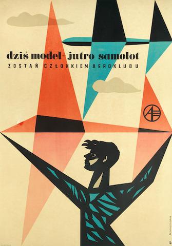 HUBERT HILSCHER (1924-1999) DZIS MODEL- JUTRO SAMOLOT