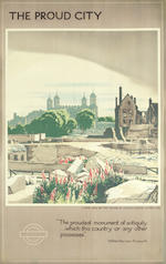WALTER ERNEST SPRADBERY (1889-1969) LONDON UNDERGROUND, Tower of London; St. Clement Danes; St. Thomas's Hospital and Houses of Parliament; Temple church