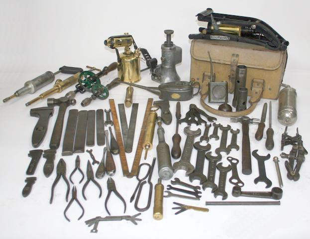 A quantity of assorted tools to suit Vintage cars including Bentley,   ((Qty))