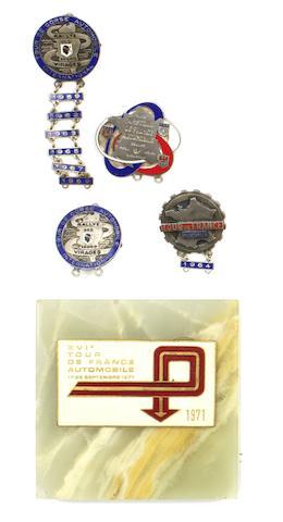 Tour de Corse and Tour de France Automobile enamel lapel badges,  ((5))