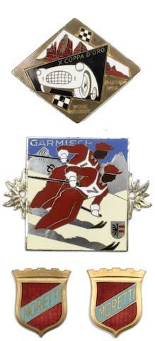 A rare Coppa D'Oro enamelled plaque, Italian, 1956,    ((4))