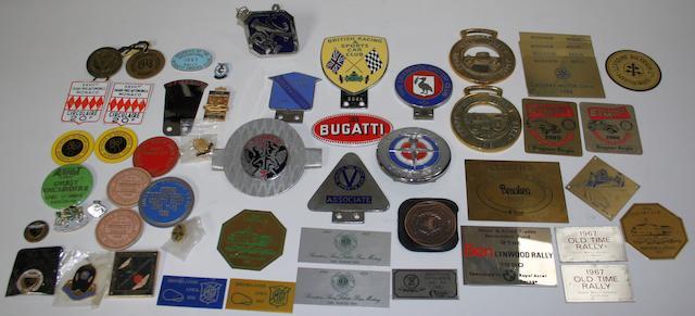 Assorted car badges,   ((Qty))