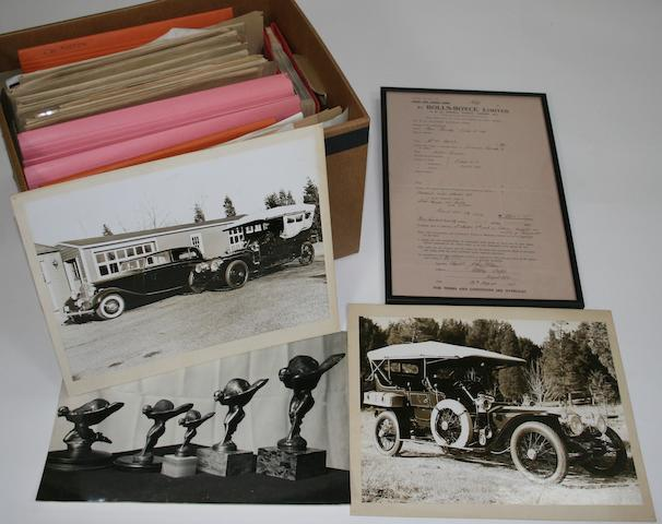 A collection of photograph, papers and hand written notes majority relating to Rolls-Royce cars owned by Stanley Sears,  ((Qty))