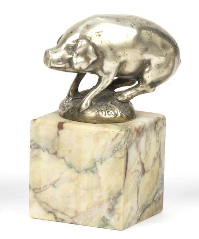 A 'Pig' mascot by Henri Payen, French, circa 1925,