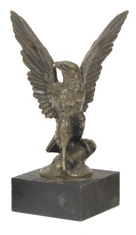 A bronze 'Eagle' mascot by E.Bregeon, French, circa 1920,