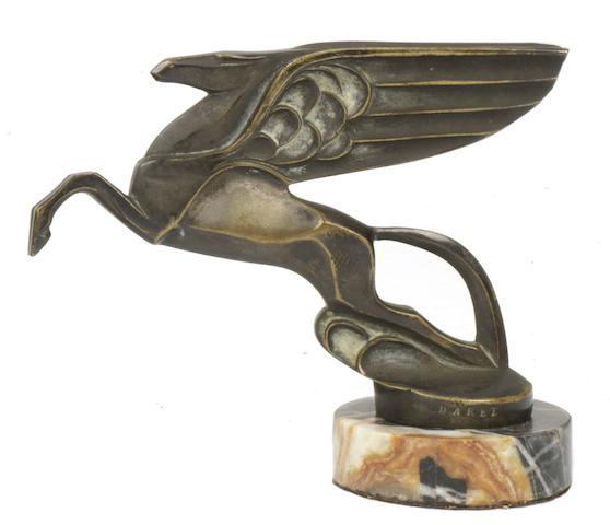 A bronze 'Pegasus' mascot for Automobiles Amilcar by Darel, French, circa 1930,
