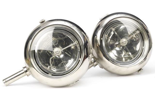 A pair of Stephen Grebel headlamps, 1930s,   ((2))