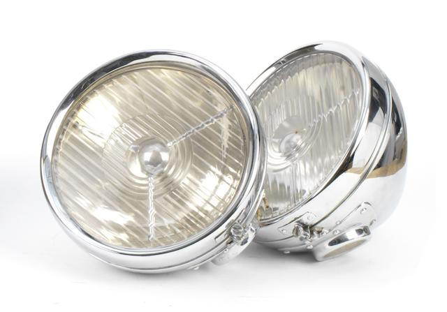 A pair of Lucas QK 596 electric headlamps, British, late 1930s,  ((2))