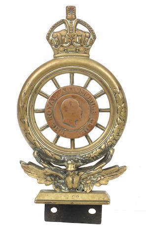 An RAC Full Member's badge by Elkington & Co Ltd, 1907-1909,