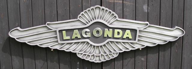 A 'Lagonda' garage display emblem,