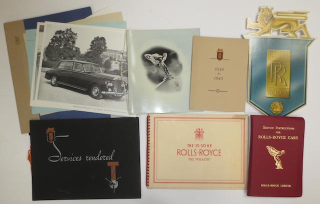 Assorted Rolls-Royce sales literature,   ((7))