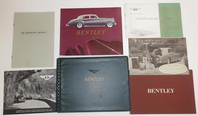 Assorted post-War Bentley sales brochures,    ((7))