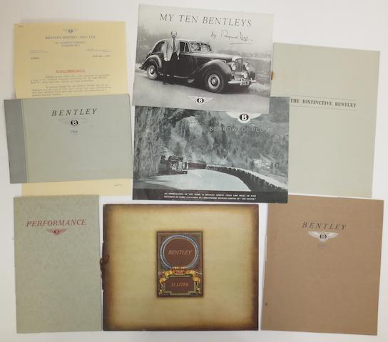 Assorted Bentley sales brochures and literature,    ((7))