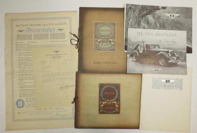 Assorted Bentley sales literature,  ((7))