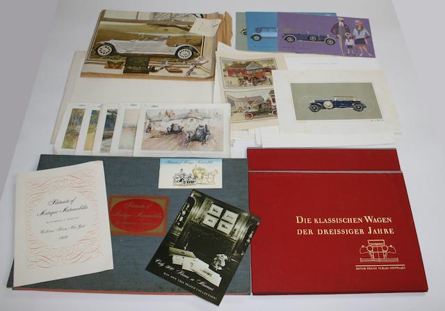 Four folios of motoring prints,   ((Qty))