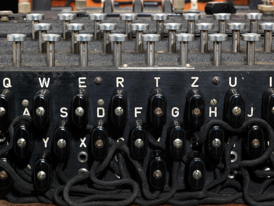 A very original Heinsoeth und Rinke three rotor Enigma enciphering machine,  German,  1941,