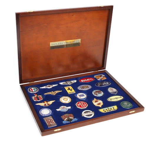 A cased set of 'Badges of the World's Great Motor Cars', by Danbury Mint,  ((4))