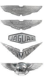 A cast aluminium sign depicting the Bentley winged logo,