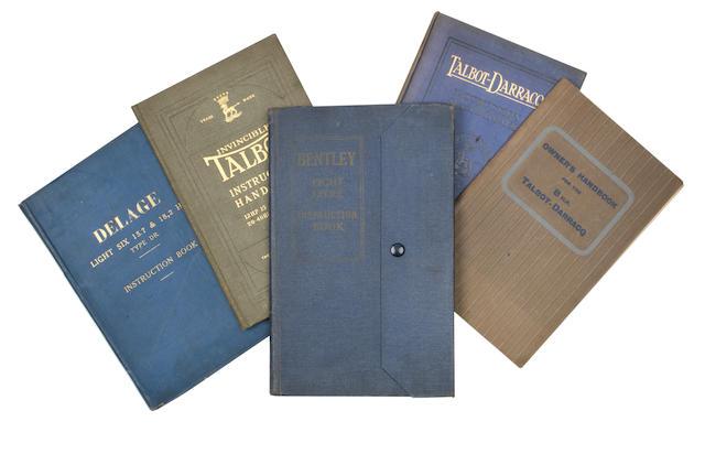 A rare Bentley Eight Litre Instruction book,   ((5))
