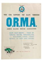A 1959 'BARC Goodwood International 100' race poster,   ((3))
