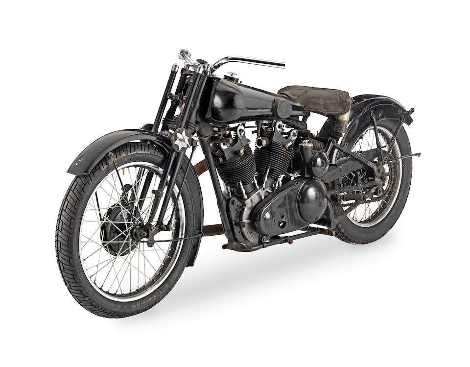 1933 Brough Superior 981cc SS100 Project Frame no. S1049 Engine no. JTO/Z 33250 Gearbox no. 7725