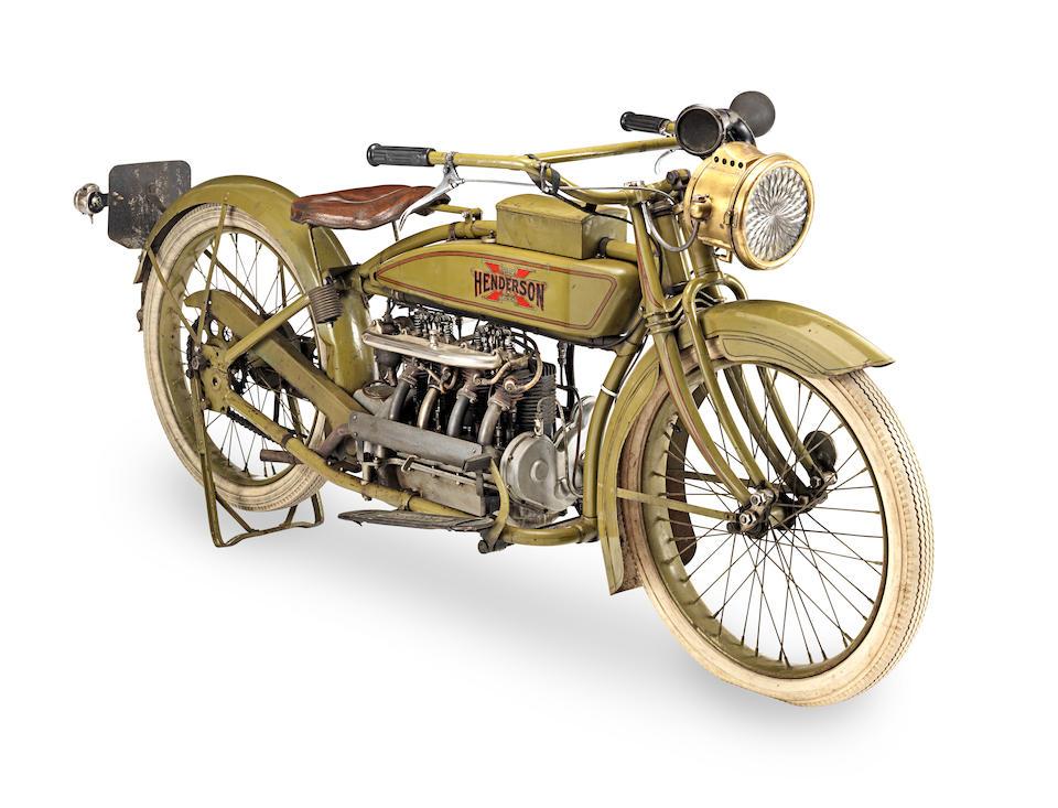 c.1919 Henderson 1,147cc Model 2 Z Four Engine no. 2Z 6315