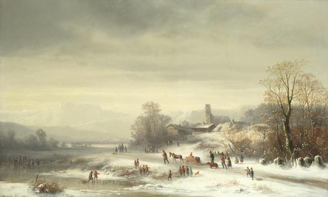 Anton Doll (German, 1826-1887) City bound