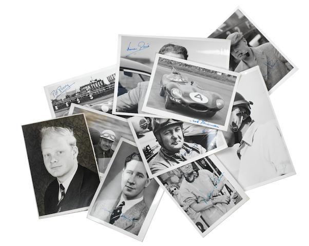Ten driver signed photographs,   ((10))