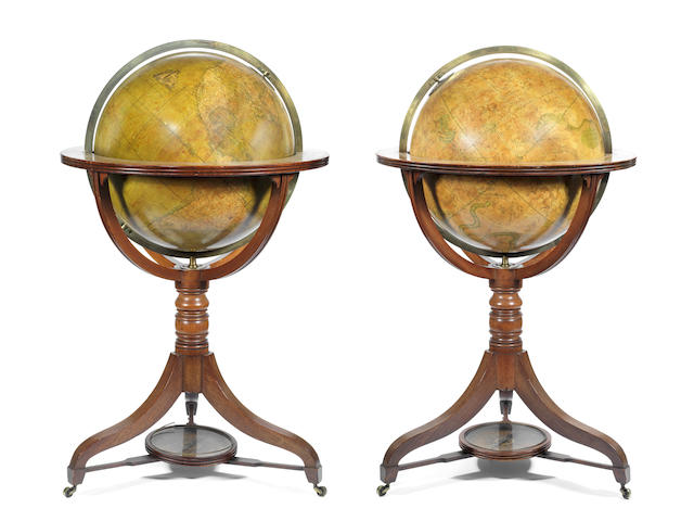 A pair of W & T M Bardin Terrestrial and Celestial Globes, English,  circa 1830,  (2)