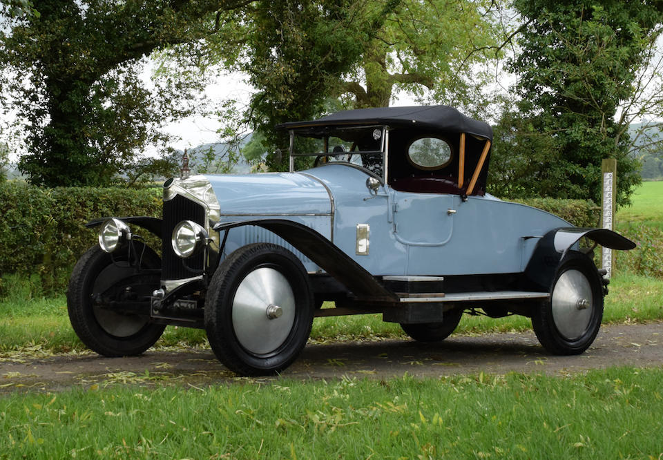 1923 Crossley 19.6hp Two-seater plus Dickey  Chassis no. to be advised