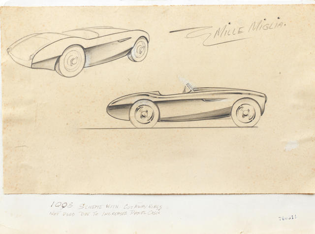 Gerry Coker's Design for a 100S Mille Miglia,