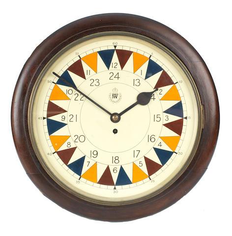 A rare '2½ minute' RAF Sector clock, 1941,