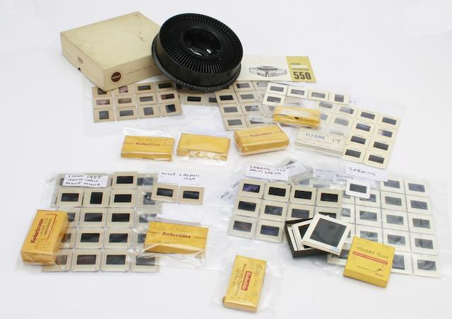 A collection of Donald Healey's colour photographic slides, offered for sale with full copyright to the purchaser.