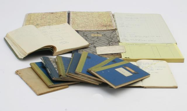 Nine small notebooks used by Geoffrey Healey,