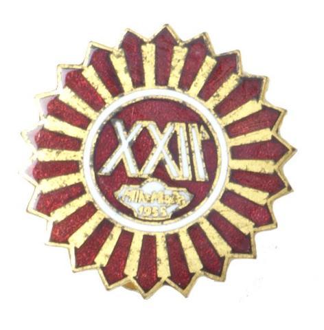 A 1955 Mille Miglia enamel lapel badge,