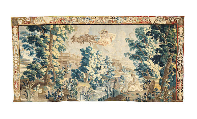 A post-Mortlake metamorphoses tapestry, early 18th century possibly Antwerp   436cm x 213cm