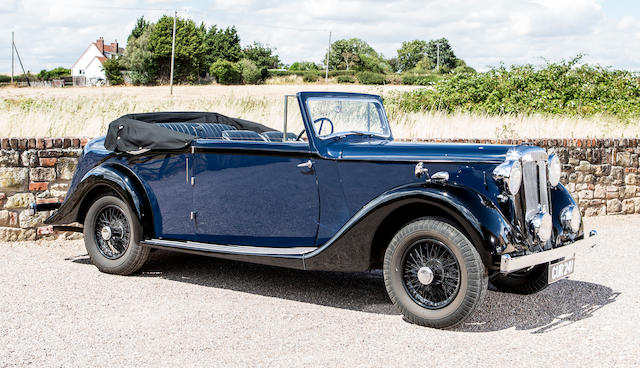 First owned by Lord Walter Rothschild,1937 Daimler EL24 De Ville  Chassis no. 43734