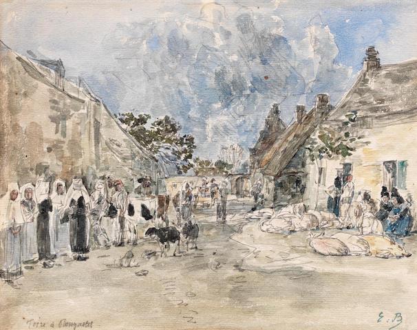 EUGÈNE BOUDIN (1824-1898) Foire à Plougastel (Executed between 1867 - 1872)