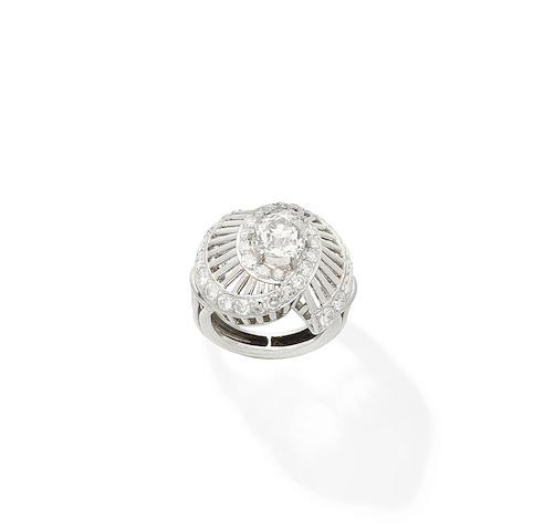 A diamond dress ring