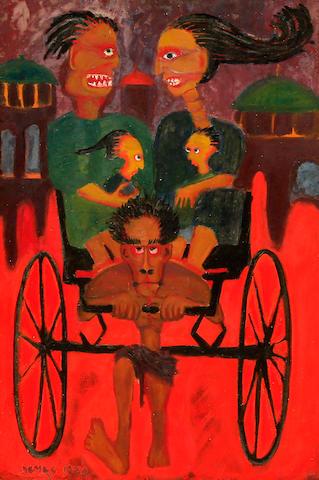 Demas Nwoko (Nigerian, born 1935) Rickshaw Ride