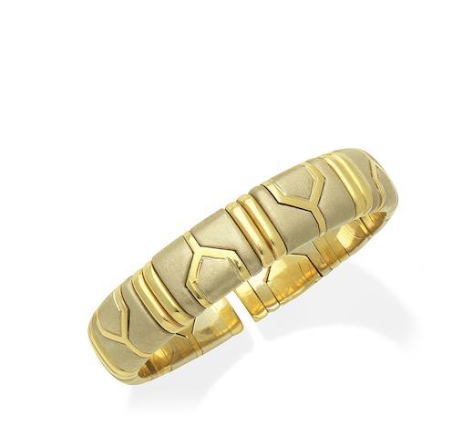 A fancy-link bangle