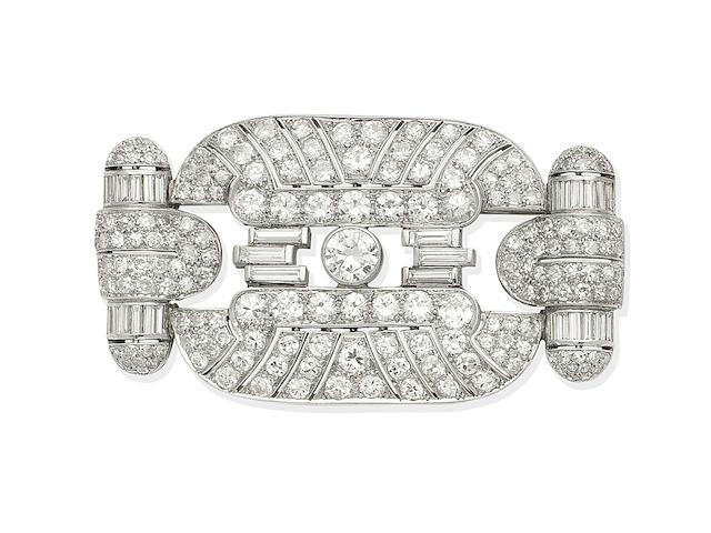 An Art Deco diamond brooch, circa 1930
