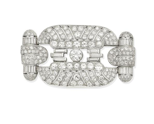 An Art Deco diamond brooch, circa 1930