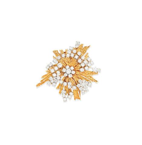 A diamond brooch, by Cartier, circa 1970