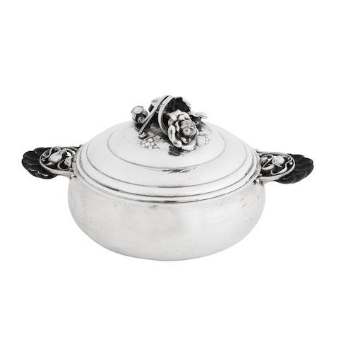 A Danish Silver Entrée Dish and Cover, designed by Georg Jensen (1866-1935) MARK OF GEORG JENSEN, COPENHAGEN, 1933-1944