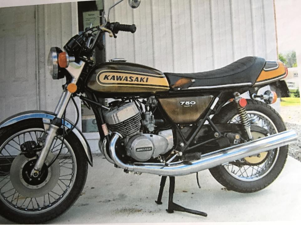 1974 Kawasaki 748cc H2 Frame no. H2F 38193 Engine no. H2E 38427