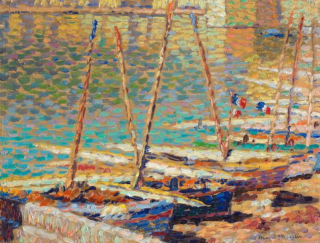 HENRI MARTIN (1860-1943) Barques à Collioure (Painted circa 1925)