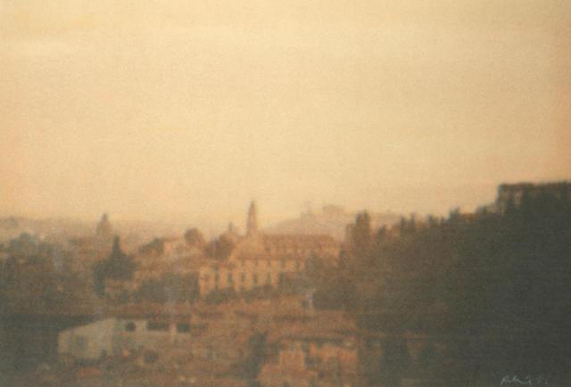 Harold Riley (British, born 1934) View of Florence