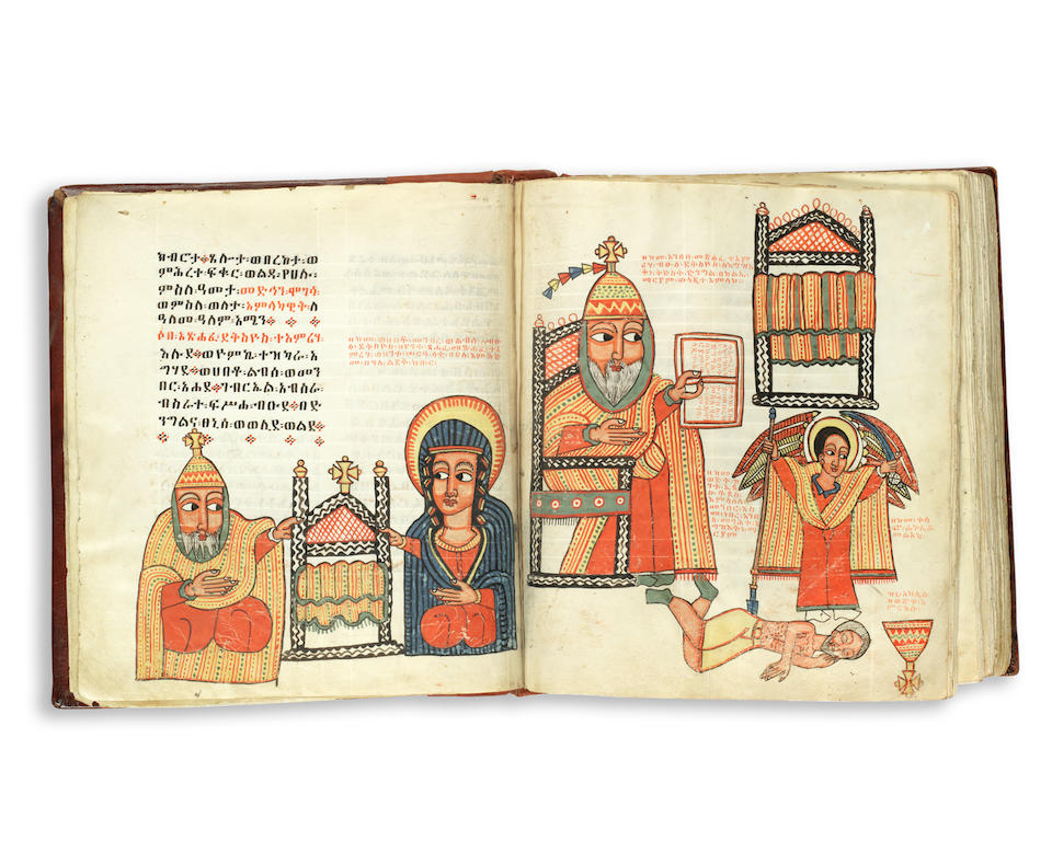 ETHIOPIAN MANUSCRIPT Miracles of Mary, and other texts in Ge'ez, DECORATED MANUSCRIPT ON VELLUM, [Ethiopia, 17th century]