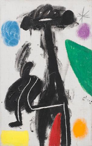Joan Miró (1893-1983) Femme, étoile (Painted on 8 February 1978)